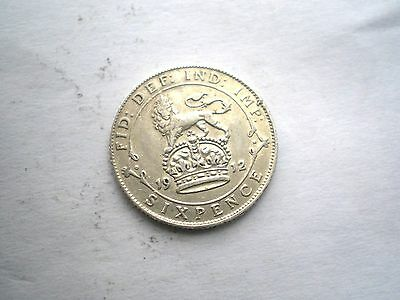 EARLY PRE WW1- GEORGE V- SILVER 6 PENCE COIN FROM THE UK DATED-1912 nice