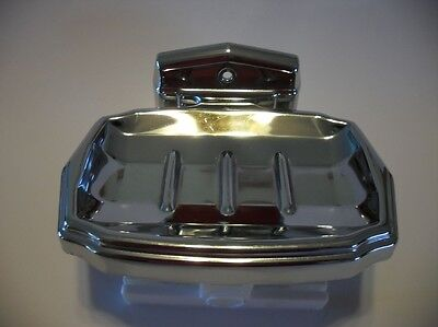 Vintage AUTOYRE Fairfield 52 CHROME SOAP DISH Holder Wall Mount Made In U.S.A.