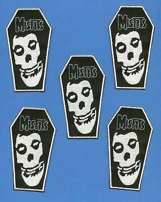 5 Lot Misfits Iron On Jacket Hoodie Backpack Patches Music Crests A