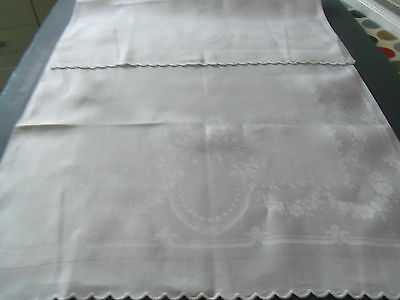 Gorgeous White Huckaback Vintage/retro Guest Towel