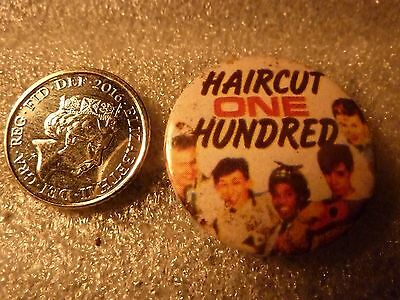 """""""HAIRCUT ONE HUNDRED"""", Vintage"""" 1970's -1980's Button/Badge 1 """" ***ONE ONLY***"""