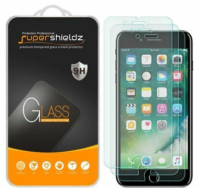 3X Supershieldz Tempered Glass Screen Protector Saver For Apple iPhone 7 Plus