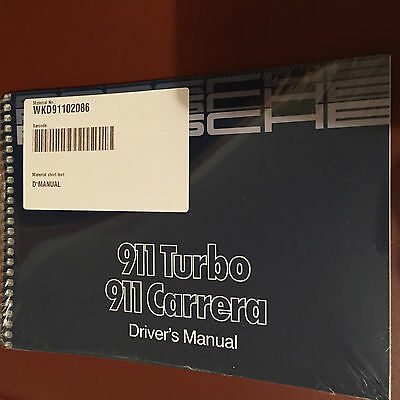 Porsche 911 930 turbo Carrera 3.2 3.3  manual maintenance book for car Guidence