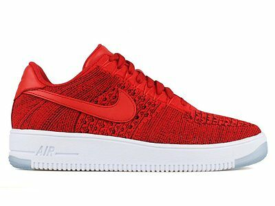 NEW Nike Mens AF1 Ultra Flyknit Low SHOES University Red/White 817419-600