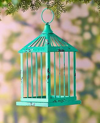 The Lakeside Collection Decorative Metal Birdcages - Turquoise