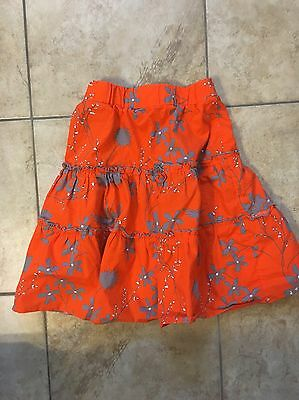 Llum Skirt Orange Gray Size 2T-3T
