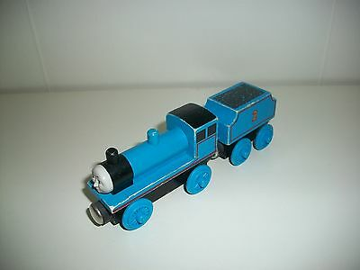 Thomas Wooden Train Edward The Blue Engine 99002 1992 Flat Magnets Staples Used