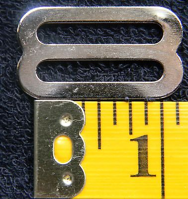 """1 Inch Metal Triglides Slides for 1"""" Webbing Strapping QTY 10 Nickel Plated"""