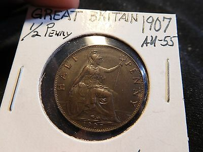 Great Britain 1907 1/2 Penny