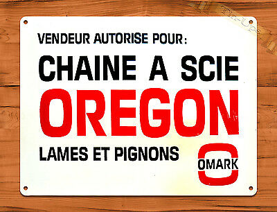 "TIN-UPS TIN SIGN ""Oregon"" Chainsaw Vintage Garage Rustic Wall Decor Man Cave"