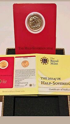 2014 Half Sovereign 22 caret Gold Coin Struck in India