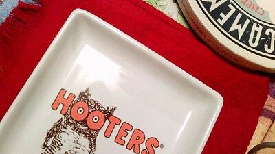 "Tray - Collectible Official Hooters Snack/wing Tray - 9"" X 5.5"" #4230"