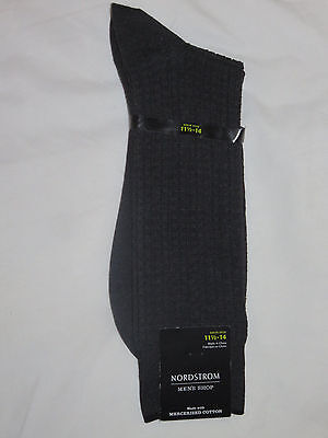 Nordstrom Men's Mercerized Cotton Dark Grey Charcoal Socks Size 11.5 - 14 NEW