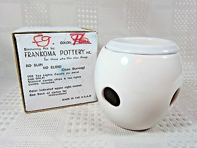 Frankoma Pottery Simmering Pot Wax Fragrance Tea Light New In Box
