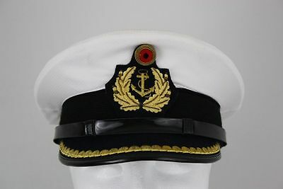 Peaked Cap Officer Sz 59 Carnival German Navy Captain Admiral