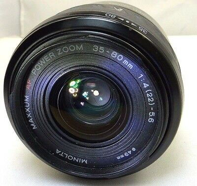 Minolta Maxxum AF 35-80mm F4-5.6 Power Zoom Lens  (aperture blades stuck w/ oil)