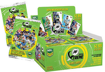 NRL 2016 RUGBY LEAGUE - Power Play Xtreme Trading Cards Box #NEW