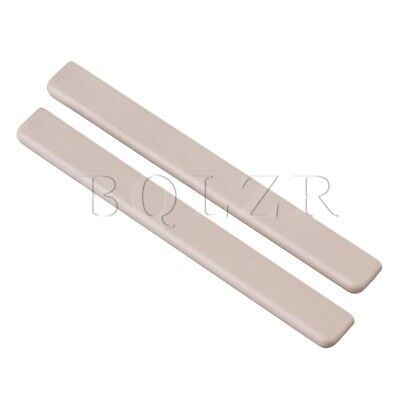 6.2x0.3x0.7cm Replacement Beige PPS Saddles for Ukulele Guitar Pack of 2