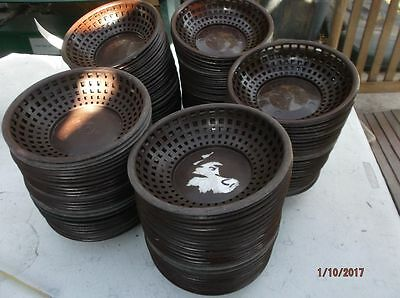 "LOT of 25 Round Serving Baskets Plastic Tablecraft Restaurant 8"" x 2"" GOOD Cond"
