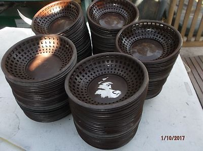 "LOT of 40 Round Serving Baskets Plastic Tablecraft Restaurant 8"" x 2"" GOOD Cond"