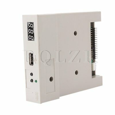 "White 3.5"" USB SSD floppy drive emulator External floppy 34-pin 5V DC 1.44MB"