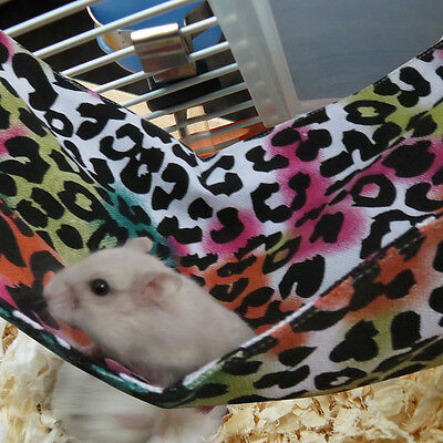 Small Animal Pet Hammock Cage Hanging Bed For Mouse Rat Hamster Ferret Parrot