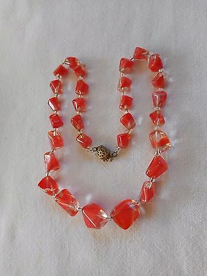 """Vintage murano glass beads  Necklace 18"""""""