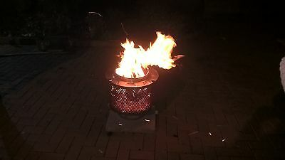 Stainless steel fire pit, extend the summer season