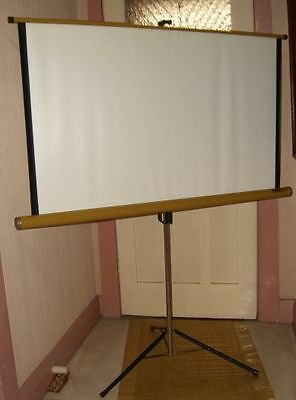 Vintage AUSTRALUX Self-Tensioning Lenticular Projection Screen / c. 1980/ As New