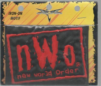 NEW WORLD ORDER nWo Red Iron-On Embroidered Clothing Patch Wrestling WCW SEALED