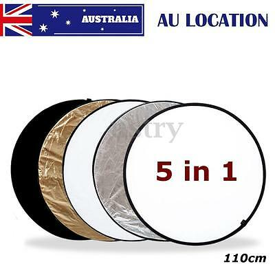 AU 110cm 5 in 1 Photography Light Multi Collapsible Reflector Photo Studio Board