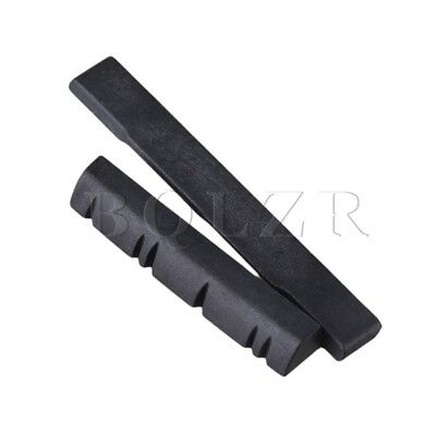 Black 56x7.2x3mm Bridge Saddle 38x7x5mm Nut for 6 String Ukulele Guitar