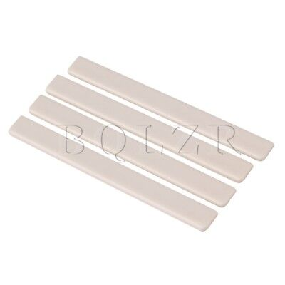 Ukulele guitar 7.5x0.3x0.8cm Beige Plastic Saddles Replacement Pack of 4