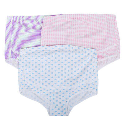 3x Womens Adjustable Maternity Panties High Cut Cotton Over Bump Underwear Brief