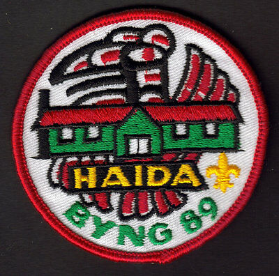 """Boy Scouts Canada Camp Byng Haida B.c. 1989 Badge 3"""" Embroidered Patch"""