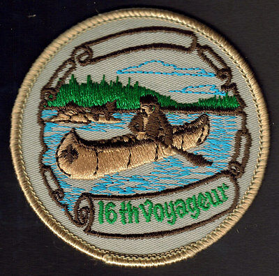 BOY SCOUTS CANADA 16th VOYAGEUR LARGE EMBROIDERED PATCH CANOE