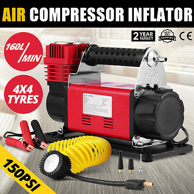 12V Heavy Duty Air Compressor 4x4 Tyre Pump Local Safe T-max EXTREMELY EFFICIENT
