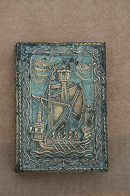 French Art Deco Max Le Verrier Bronze Cigars Cigarettes Box Book Shaped Signed