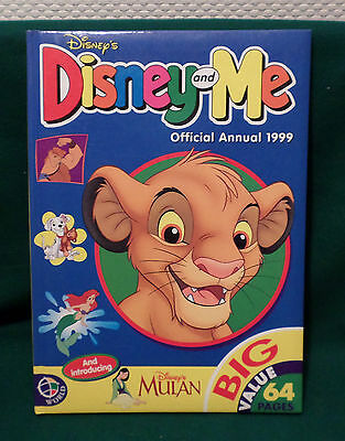 DISNEY AND ME OFFICIAL ANNUAL 1999: Disneyana: English: Sehr guter Zustand