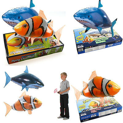Air Swimmer Remote Control RC Flying Inflatable Fish Shark Blimp Balloon Xmas AU