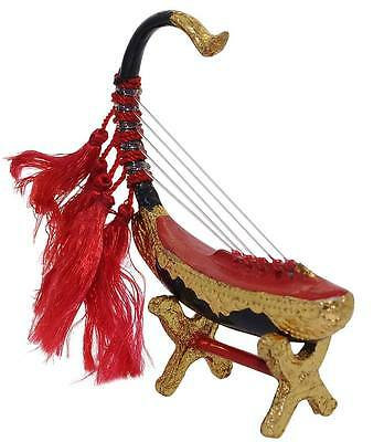 Miniature Burmese Golden Harp Myanmar Handicraft Souvenir Music Instrument