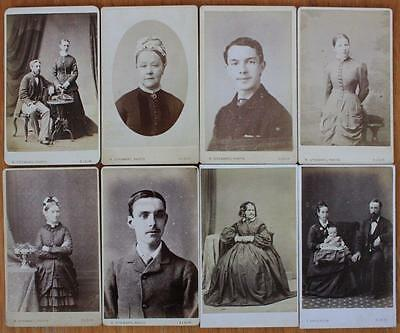 Job Lot of 8 Victorian CDV Photos All ELGIN Photographers R. Stewart & Anderson