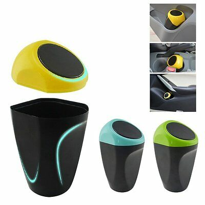 Mini Dustbin Box Trash Rubbish Can Garbage Case Holder Bin Hook For Car SUV