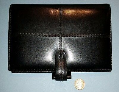 Filofax Cross Italian Leather Personal Organiser Black BNIB
