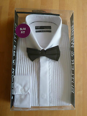 "BNIB Butler & Webb White Dress Slim Fit Shirt & Bow Tie 15""/38cm Collar"