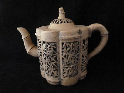 Fine Antique Chinese Reticulated Yixing Teapot - Qing Dynasty