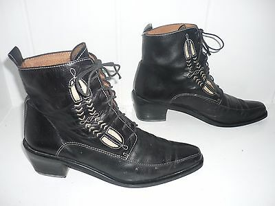 Quality Vintage Leather Ankle Boots Size 5 / EU 38