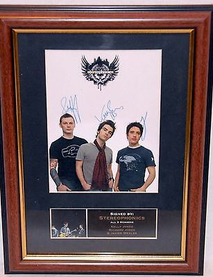 "Signed ""stereophonics"" Framed Photo"