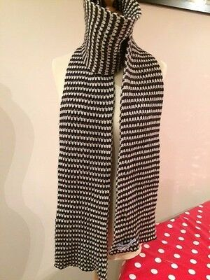 Jo Gordon 100% Lambswool scarf in grey stripe