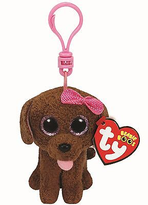 "TY Beanie Boo Key Clip 3"" Maddie the Brown Dog - Collectable Plush"